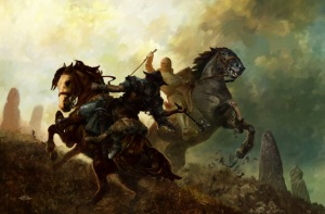 640x422_9499_Mounted_warriors_2d_fantasy_painting_medieval_fight_knights_barbarian_axe_horses_warriors_battle_picture